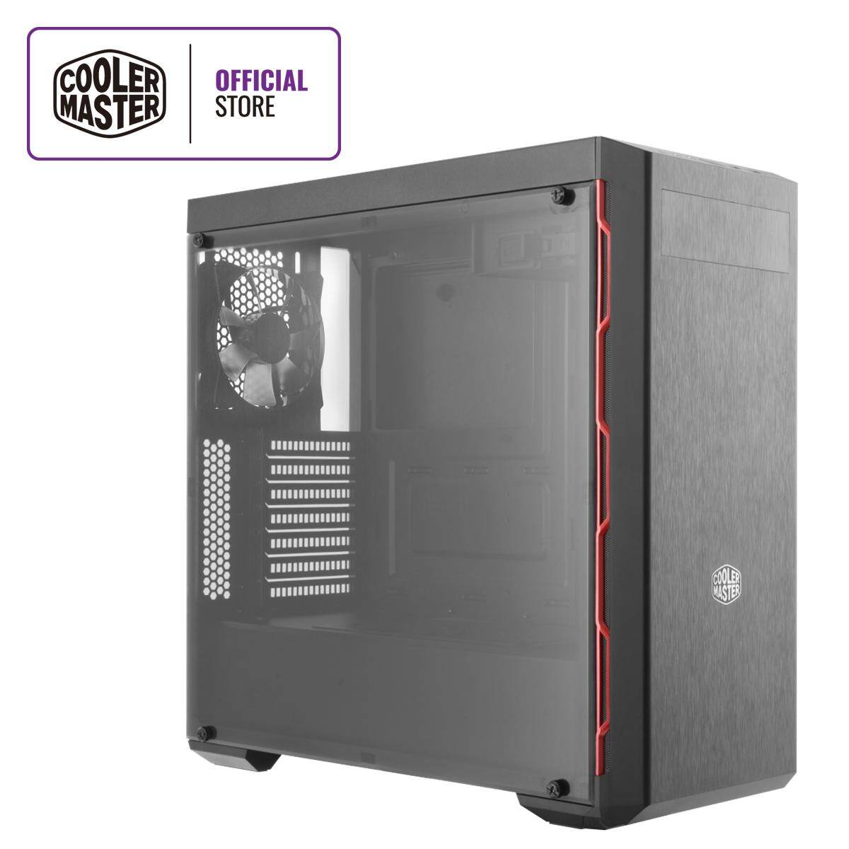 Cooler Master MasterBox MB600L ATX Gaming Case with Red Trim, ODD Drive & Tempered Glass Side Panel Malaysia