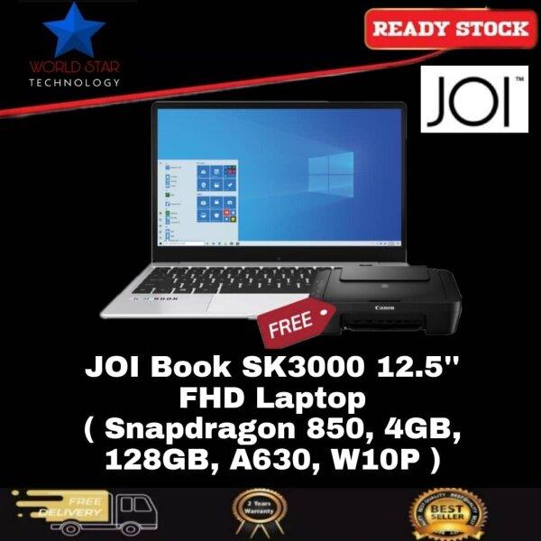 JOI Book SK3000 12.5 FHD Laptop ( Snapdragon 850, 4GB, 128GB, A630, W10P ) Malaysia