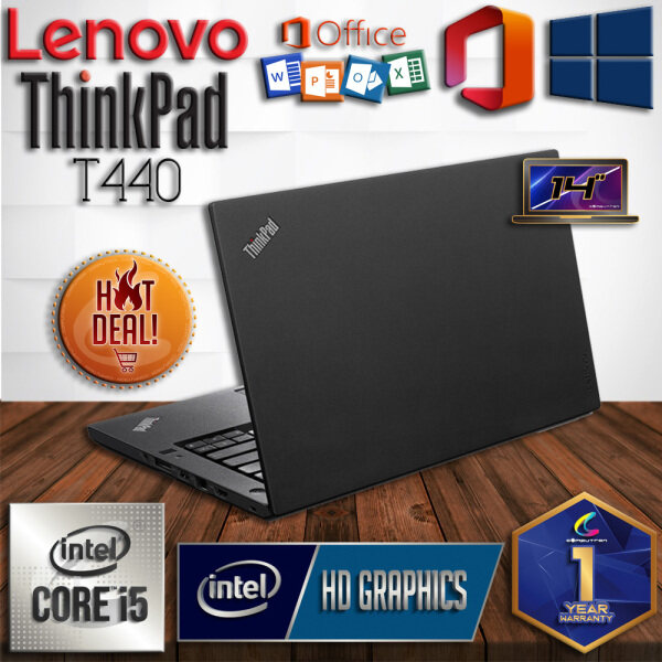 LENOVO THINKPAD T440 ULTRABOOK - CORE I5 HASWELL / 8GB DDR3 RAM / 500GB HDD STORAGE / WINDOWS 10 PRO / 14 INCH [ 1 YEAR WARRANTY ] [ LAPTOP ] Malaysia