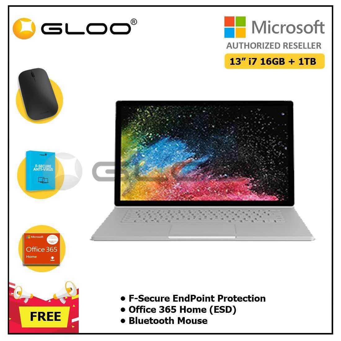 Microsoft Surface Book 2 13 Core i7/16GB RAM - 1TB + F-Secure EndPoint Protection + Office 365 Home ESD + Bluetooth Mouse Malaysia