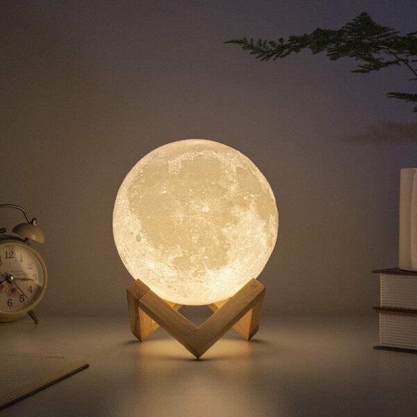 3D Moon Lamp LED Night Light USB Charge Multi-color Brightness Adjustable Night Light For Children Home room Decoration