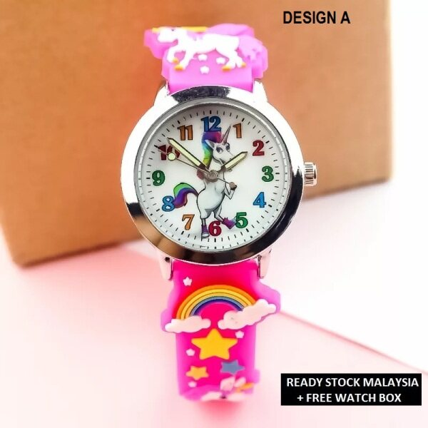 ICE Jam Tangan Kanak-Kanak Kids Sport and Casual 3D Pony Silicon Strap Quartz Watch Analog Luminous Pointer Watches + Watch Box Best Gift Jam Tangan Malaysia