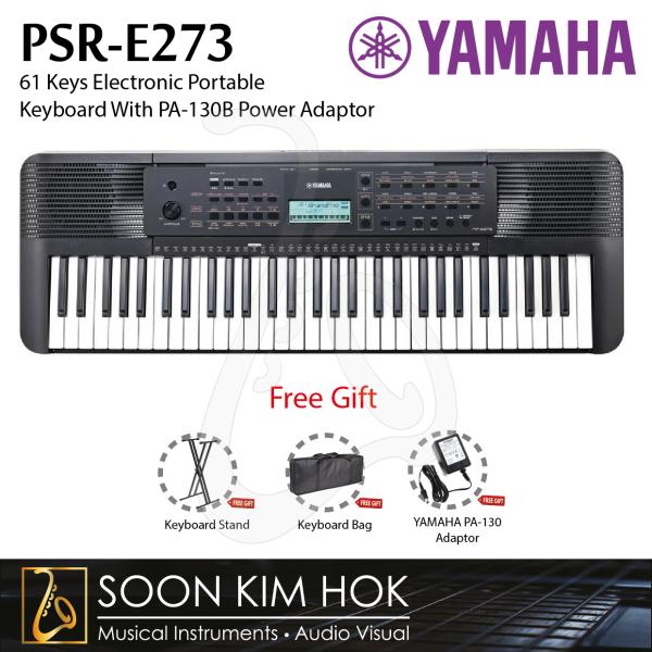 YAMAHA PSR-E273 61 Keys Portable Keyboard With PA-130B Power Adaptor (PSRE273) Malaysia
