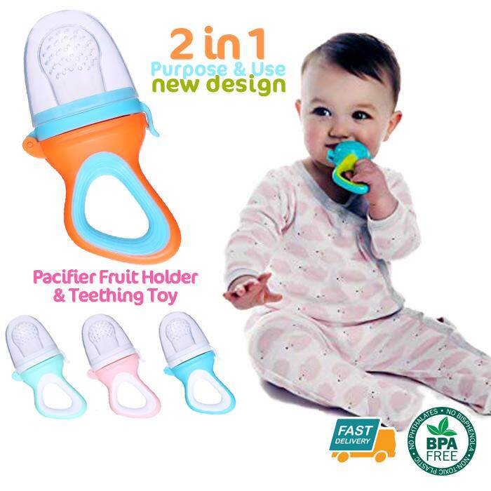 Food Grade Silicone Safe Baby Fruit Vegetable Feeder Food Feeding Pacifiers By Akutrader Enterprise.