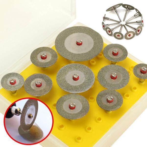 Bộ Đĩa Cắt Kim Cương 10X1/8 Máy Khoan Mini 3Mm Cắt Bánh Xe Đối Với Công Cụ Rotary-