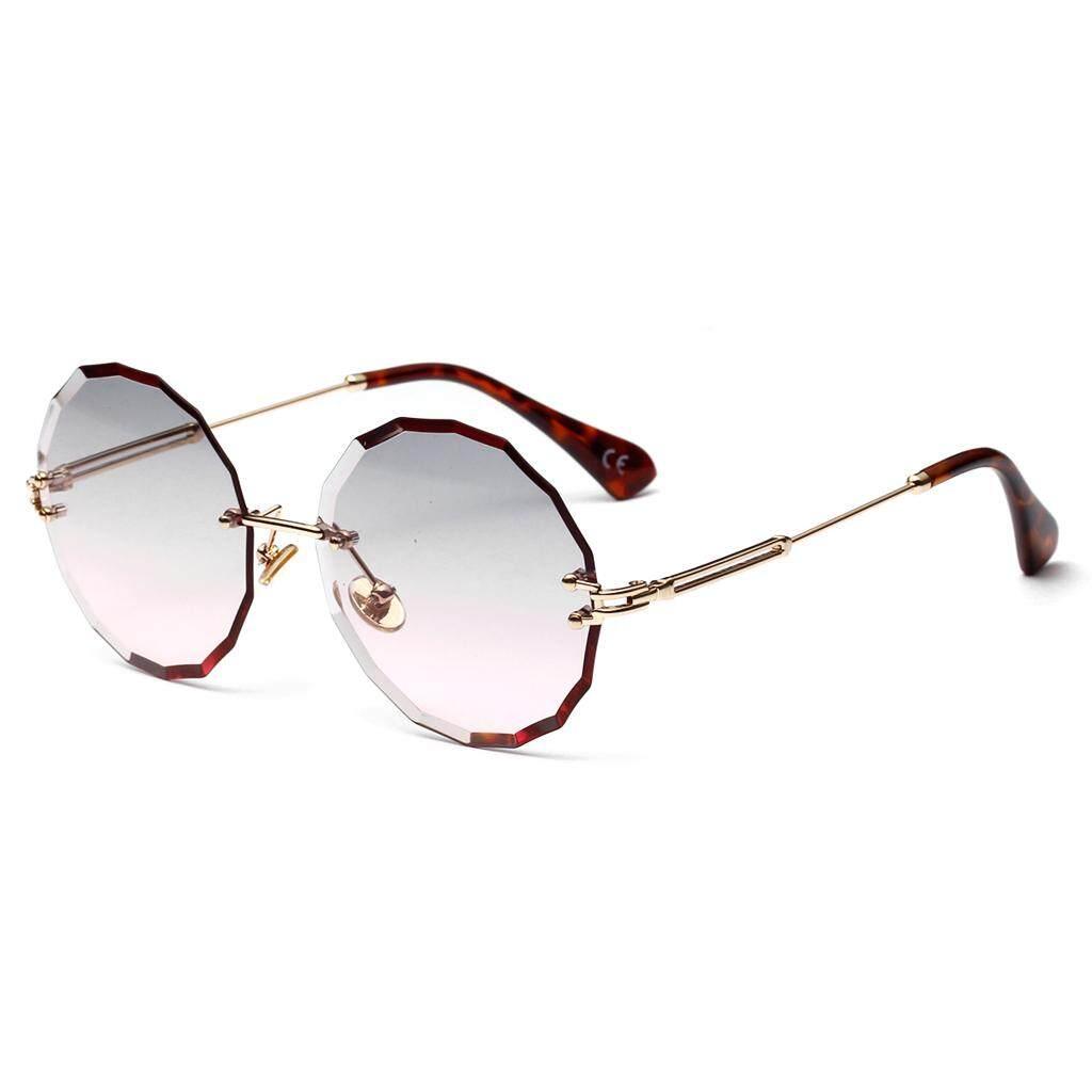 1c358628fcc9 Blue Round Sunglasses for Women Clear Lens 2019 Summer Style Brown Sun  Glasses Retro Female Gift