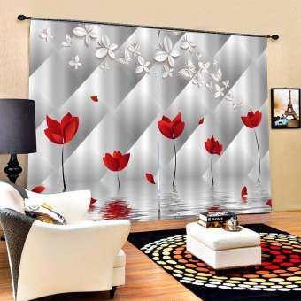 KEAJRY3D สามมิติพิมพ์ผ้าม่านห้องนอนของตกแต่งระเบียงผ้าม่านกันน้ำ-