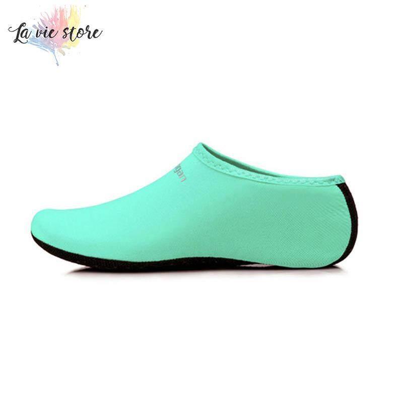 La vis Men Women Aqua Skin Shoes Beach Water Socks Yoga Exercise Pool Swim Slip On