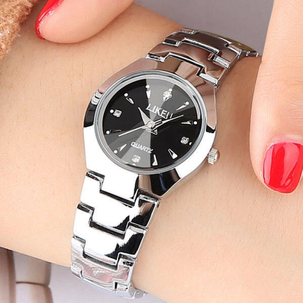 TAP479 Genuine tungsten steel watch ladies fashion student watch mens female watch couple waterproof ultra-thin quartz mens watch watch Malaysia