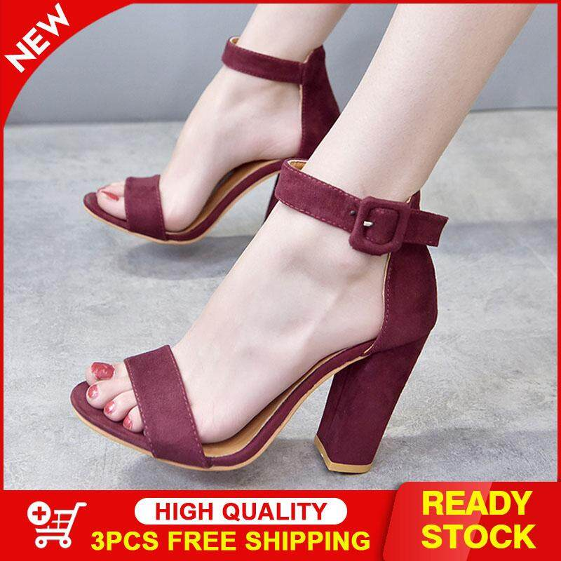c04491b56 AS Shoes for women Europe and the United States high-heeled plus size suede  fish