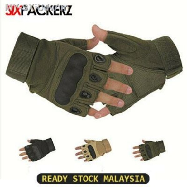 Half Finger Riding Outdoor motorcycle Glove Military Tactical Gloves Hunting Riding Cycling Sturdy Hiking Glove