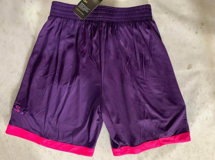 watch dcc4f f1167 Men's Minnesota Timberwolves Embroidery Shorts Nike_NBA Swingman Jersey  Shorts - Purple
