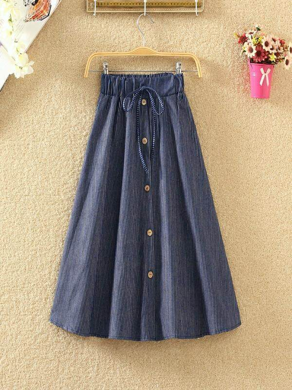 9944cd7df SHK Womens Casual Denim Vintage Comfortable High Waist Ladies Long Skirt