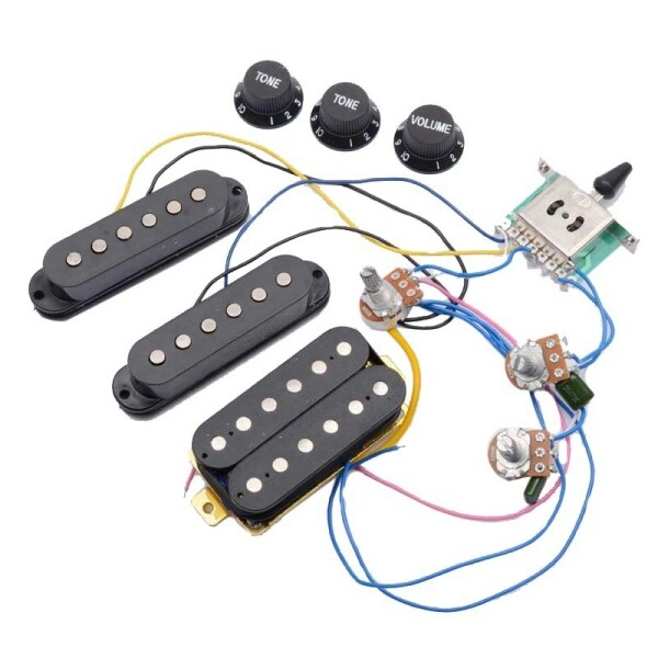 ST Electric Guitar Pickup Wiring Harness Prewired 5-Way Switch 2T1V Control SSH Pickup