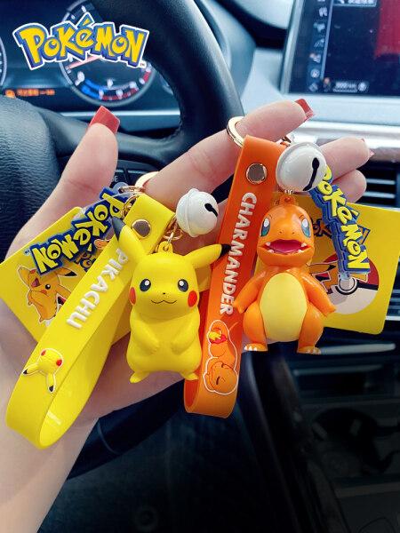 Mua Pokémon Pikachu Mặt Dây Chuyền Túi Đi Học Quyến Rũ Dễ Thương Jenny Rùa Bông Búp Bê Lên Vịt Móc Chìa Khóa Xe Ô Tô Nữ Chính Hãng Pokémon Pikachu Series Đồ Treo Móc Khóa