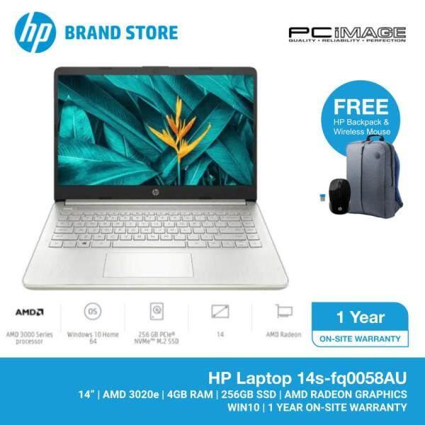 HP 14S-FQ0058AU 14 Laptop/Notebook (AMD 3020e, 4GB, 256GB SSD, AMD Radeon, W10) Malaysia