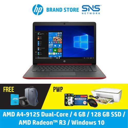 NEW HP Laptop 14-cm0119AU 14  HD (A4-9125, 128GB SSD, 4GB, AMD Radeon R3, W10) - Red [FREE] HP Backpack + F-Secure 1 Year Client Security Malaysia