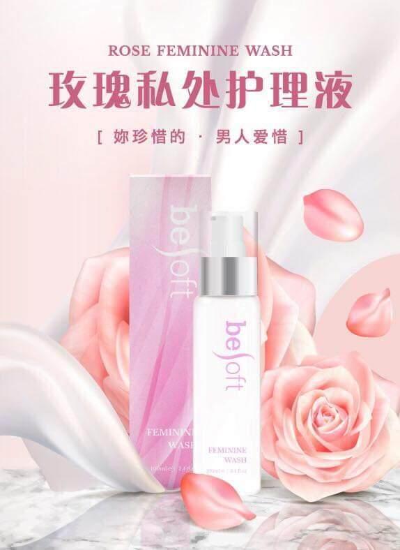 BeSoft Rose Scent Feminine Wash_for MEN & WOMEN 玫瑰私密处清洁液(男女通用)