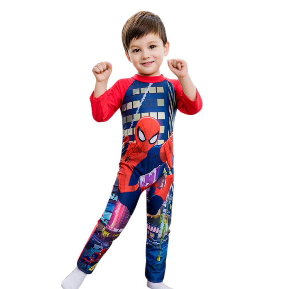 Star Mall Cartoon Boy Kids Swimsuit Baby Swimming Suit Long Sleeved Muslim Swimwear By Star Mall.