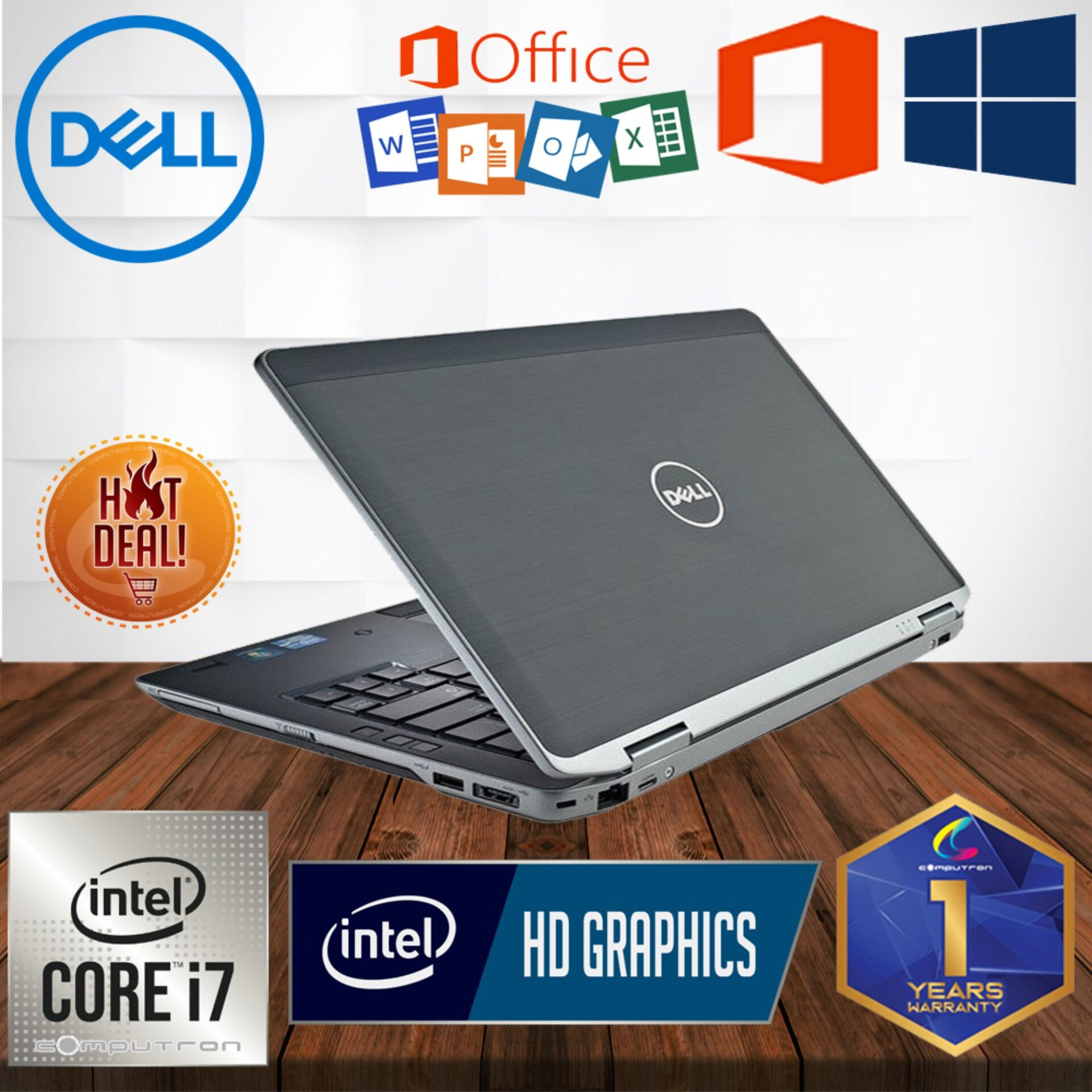 DELL LATITUDE E6330 CORE I7 IVY BRIGDE / 8GB DDR3 RAM / 320GB HDD STORAGE / 13 INCH LED SCREEN / WINDOW 10 PRO GENUINE [1 YEAR WARRANTY] [ LAPTOP ] Malaysia