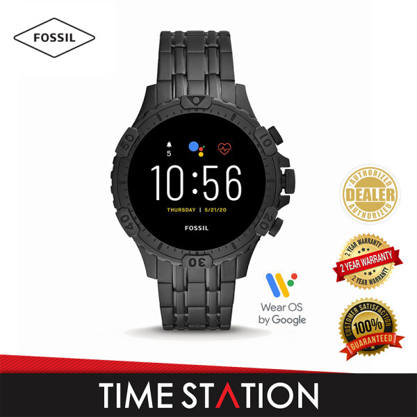 Fossil Garrett Gen 5 HR Smoke Stainless Steel Mens Smart Watch FTW4038 Malaysia