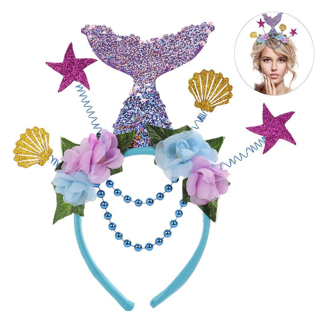 STARFISH HEADBAND Pearls Lace Love Beach Fancy Dress Party Mermaid Hairband Gift