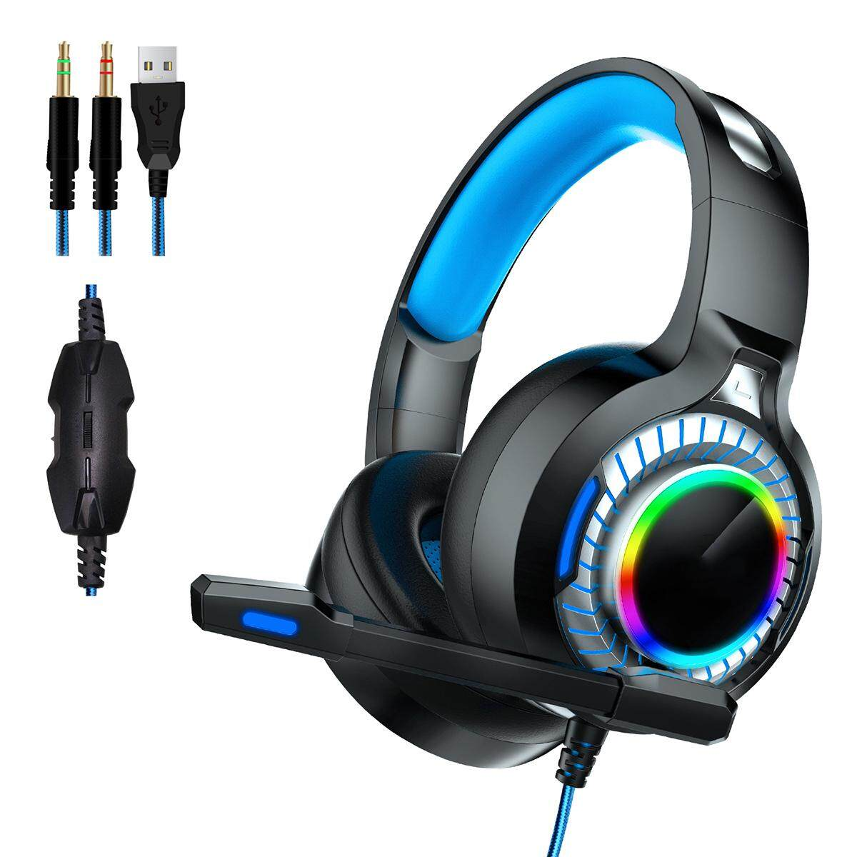 3 5mm 7 1USB Wired Stereo Game Headset Colorful LED Gaming Headphone 50mm  Driver