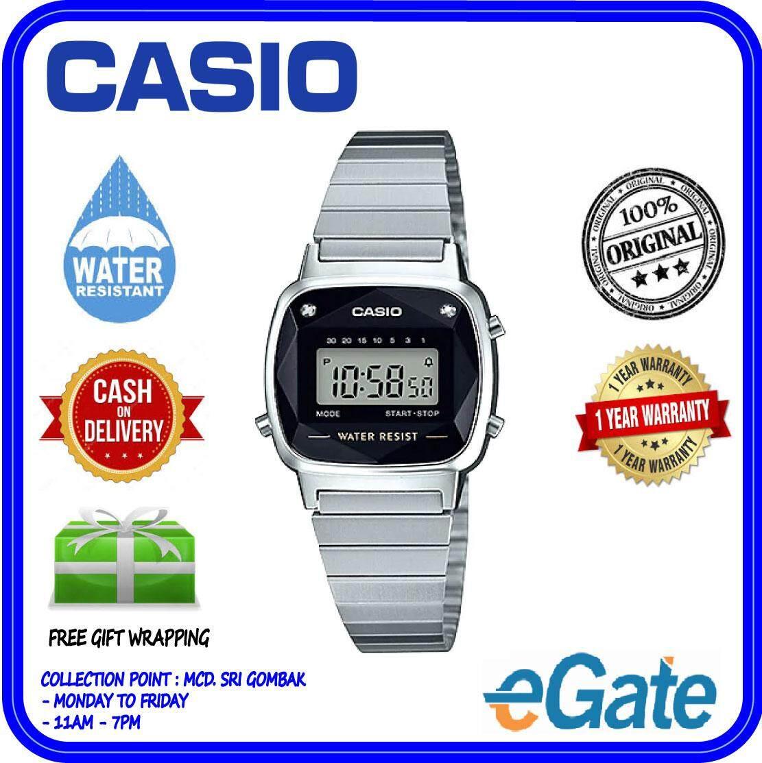 ( 2 YEARS WARRANTY ) Casio LA670WAD-1DF Ladies Digital Youth Design Stainless Steel Original Watch (LA670WAD)