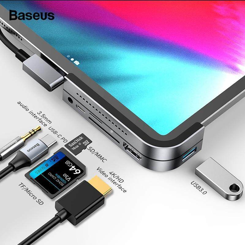 Baseus Multi USB C HUB to HDMI USB 3.0 Type C HUB For iPad Pro Multiple Port USB-C Type-C USB HUB Adapter For MacBook Pro Air