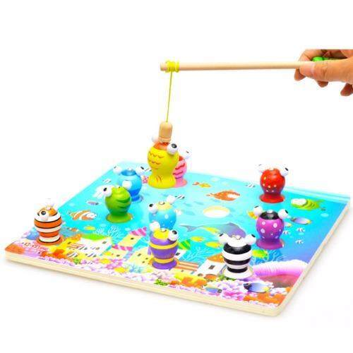3D Wooden Magnetic Fishing Game