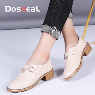 DOSREAL Giày Oxford Màu Trắng Cho Nữ Giày Lười Đế Dày Phong Cách Hàn Quốc Giày Đơn Mũi Nhọn Cổ Điển Thời Trang Cho Nữ thumbnail
