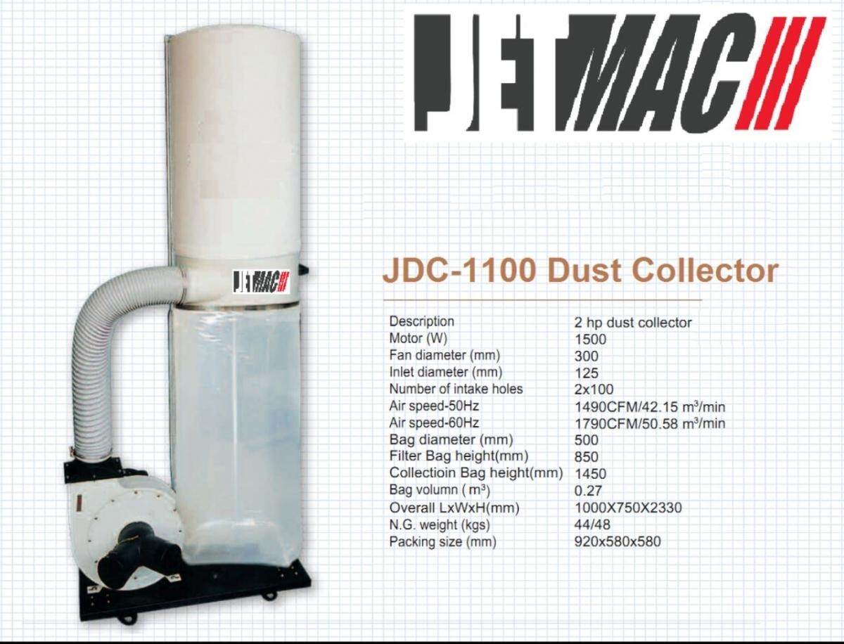 Jetmac JDC-1100A 2.0HP Dust Collector Machine ID30875