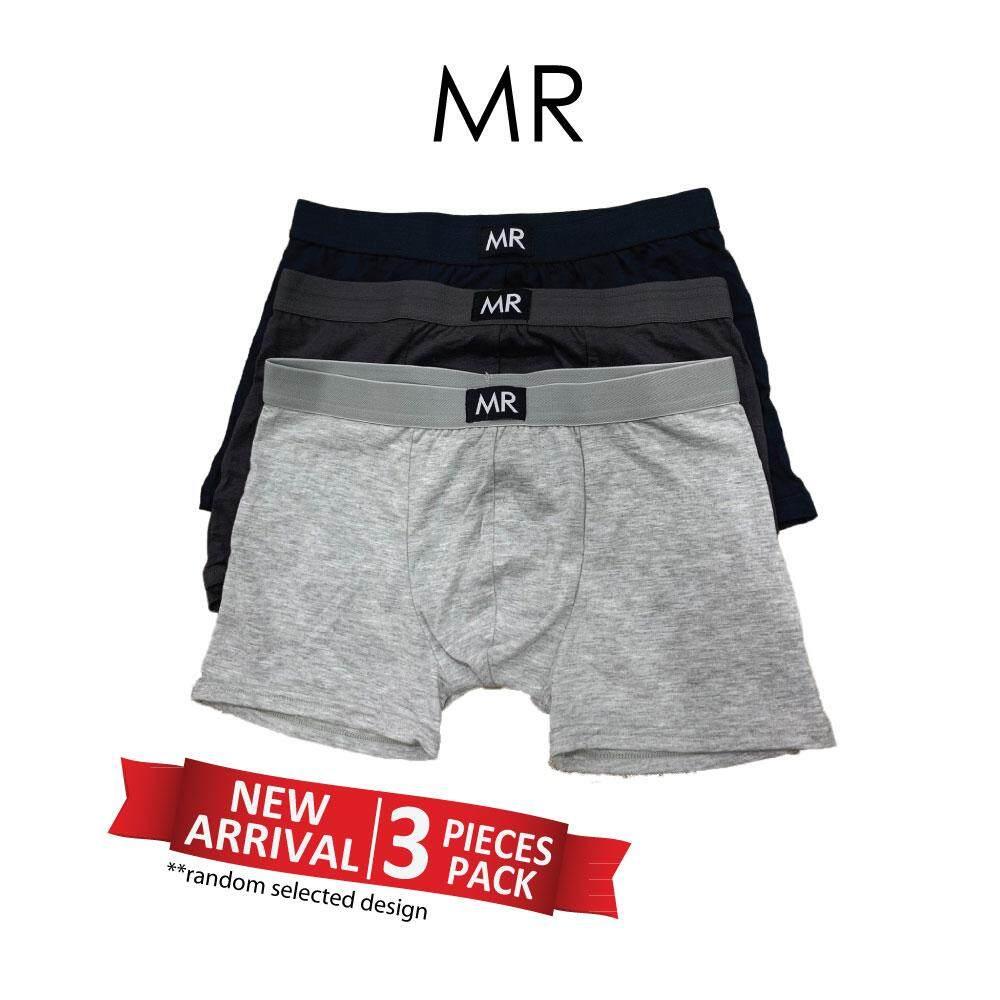 e3a62591f8d9 MR Comfort PLAIN COTTON Male Men Trunk Underwear Underpants Seluar Pendek  (3pcs)