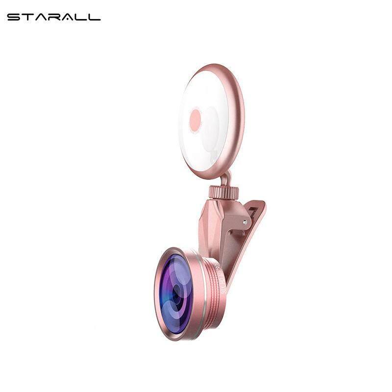 StarALL 1 Cái Selfie Vòng Đèn Kẹp Đèn LED với Di Động Ống Kính Bộ cho Điện Thoại