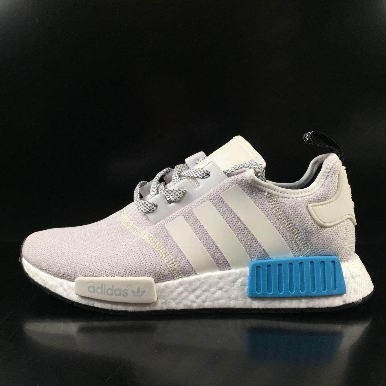 9fbf9bba2358d Sale ADIDA NMD  R1 Runner Nomad Boost S80207 Women and Men Running Shoes  (Grey Blue