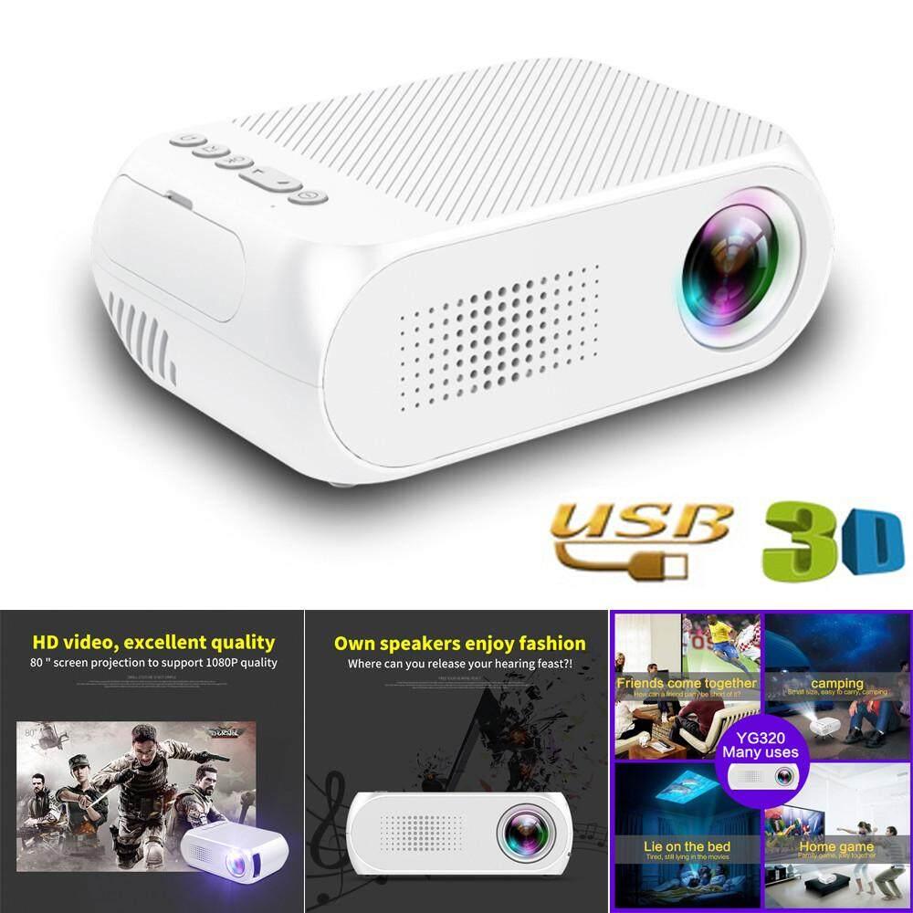 JY YG320 Mini Gia Đình Điện Ảnh TRUYỀN HÌNH Di Động Máy Chiếu LED 1080 P HDMI/USB/SD/AV
