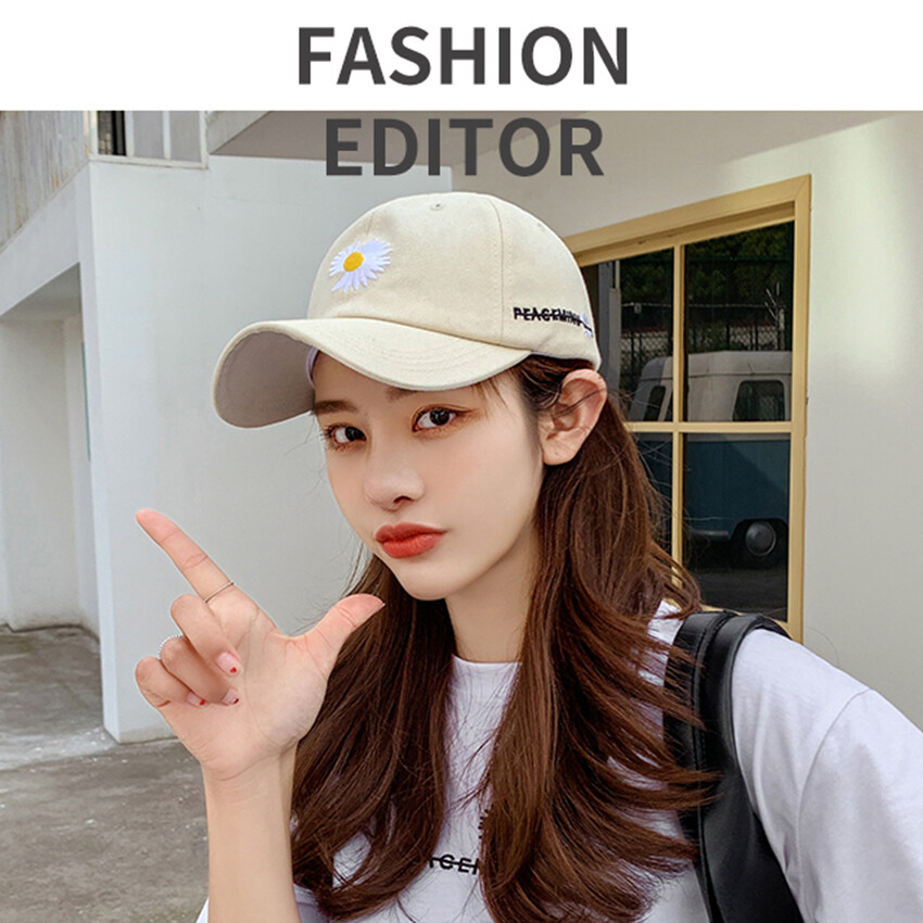 LecRose Unisex Daisy Baseball Hat Blank Dad Hat Baseball Cap Summer Breathable Cap Snapback 5 Panel Caps Women Men High...