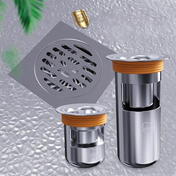 Ống thoát nước đặt dưới sàn nhà tắm nhà vệ sinh bằng inox khử mùi chống gỉ - INTL