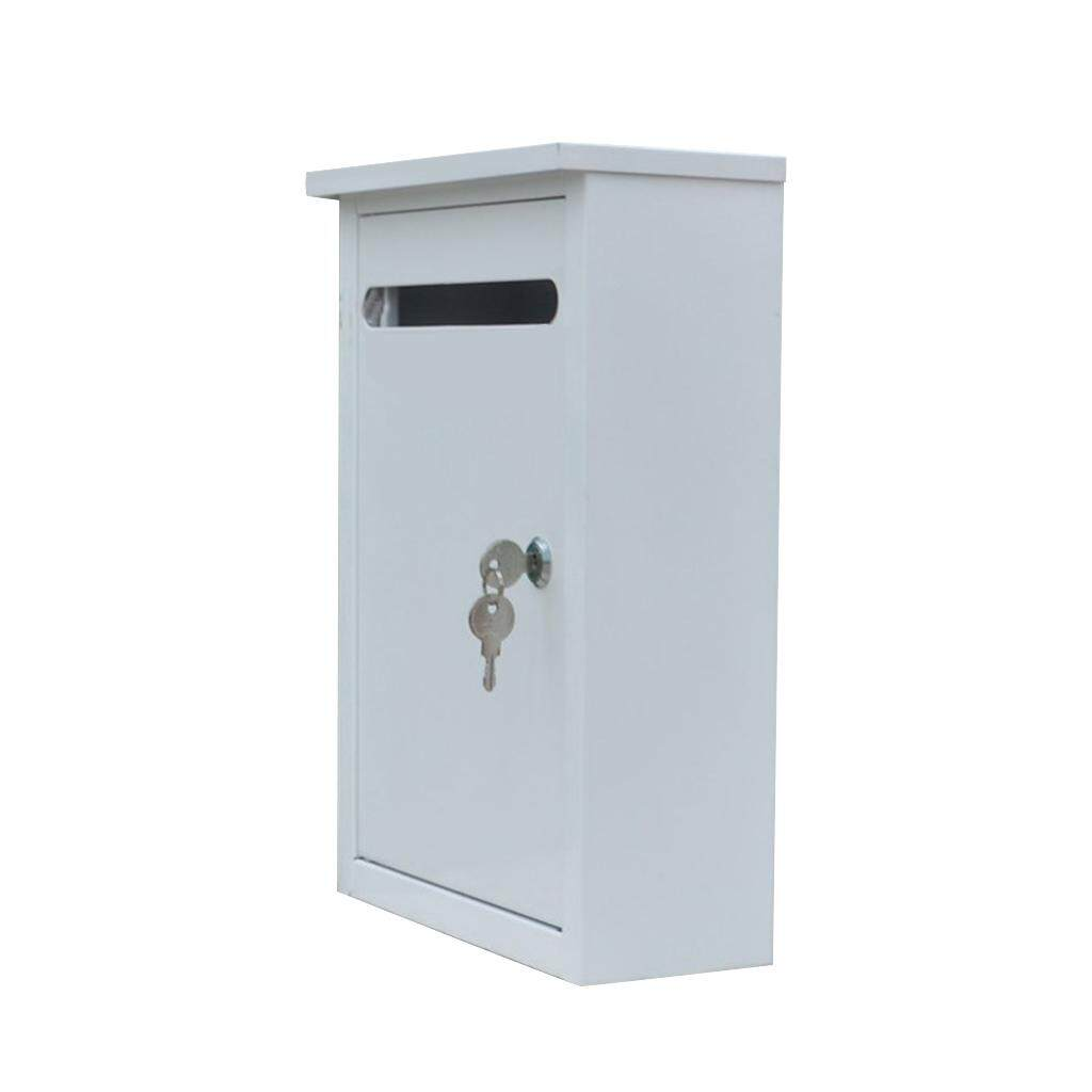 Blesiya Iron Mailbox Durable Wall Mounted Letter Box Post Box with Lock for Home
