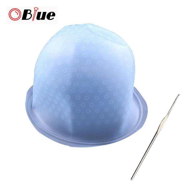 OBlue Silicon Tái Sử Dụng Nhuộm Mũ Lưỡi Chai Cho Màu Tóc Làm Nổi Bật Làm Tóc Với Kim giá rẻ