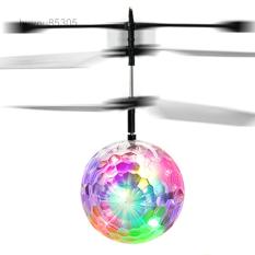 Flash Flying Ball Cảm Ứng Hồng Ngoại Đầy Màu Sắc LED Disco Máy Bay Trực Thăng RC Quà Tặng Đồ Chơi