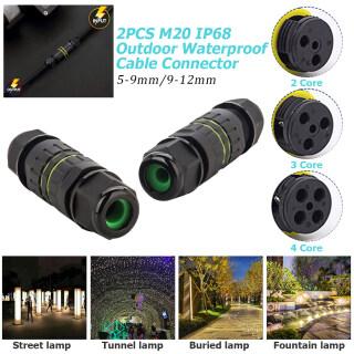 2 Hộp Nối Bằng Nhựa Thẳng Chống Thấm IP68 Chống Nước Công Nghiệp Điện M20, Đầu Nối Cáp Nối 20A thumbnail
