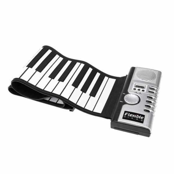 Flexible Roll Up Electronic Soft Keyboard Piano Portable 61 Keys (Black) Malaysia
