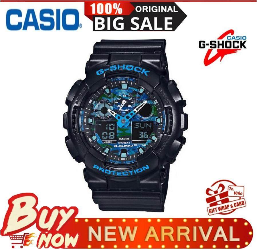 2e9bf59f1491 Casio Sports Watches Waterproof Shockproof Watch Black   Gold Men s Watch GA -100CF