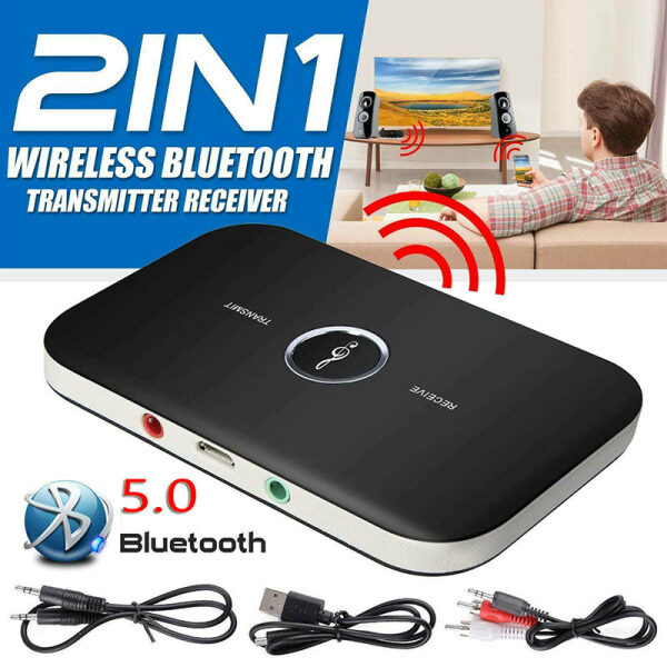 CJing Bluetooth Wireless Audio Transmitter Receiver HiFi Music Adapter AUX RCA 2 in 1