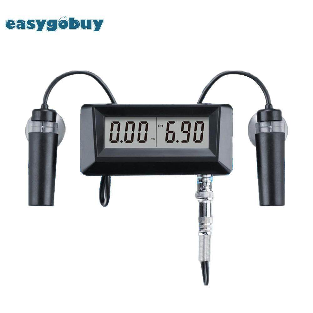 [easygoingbuy]EC Conductivity Monitor PH Meter Water Quality Monitor Tester for Aquarium