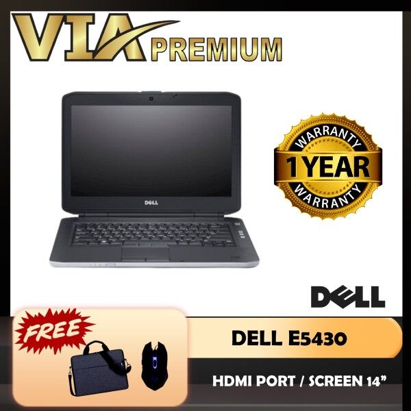 HDMI DELL LATITUDE E5430 CORE i5 3rd GEN~4GB RAM~320GB HDD/120GB SSD~WINDOWS 10~DVD~WIFI~FREE USB Mouse Malaysia