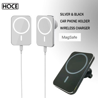Bộ Sạc Magsafe HOCE 15W Xe Không Dây, Giá Đỡ Điện Thoại Xe Hơi Nam Châm Có Thể Hấp Phụ Airvent Cho iPhone 12 12 Pro Max 12 Sạc Nhanh Mini thumbnail