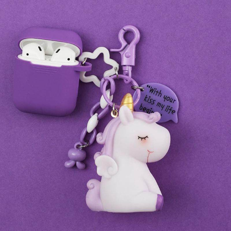 Darahry 2019 New Style Cute Unicorn Silicone Case Earphone Case Tpu Soft Wireless Earpods Protective Cover For Airpods By Darahry.