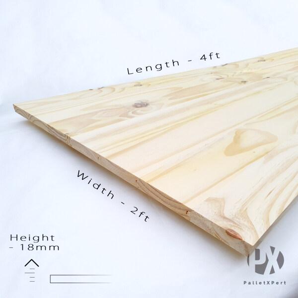 Taeda Pine Wood Board 18mm x 2ft x 4ft | Joint Board | Papan Cantum | Kayu Papan | Kayu Pine | Papan DIY | Papan Pine |